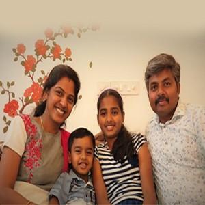 Sudhakaran and Saranya